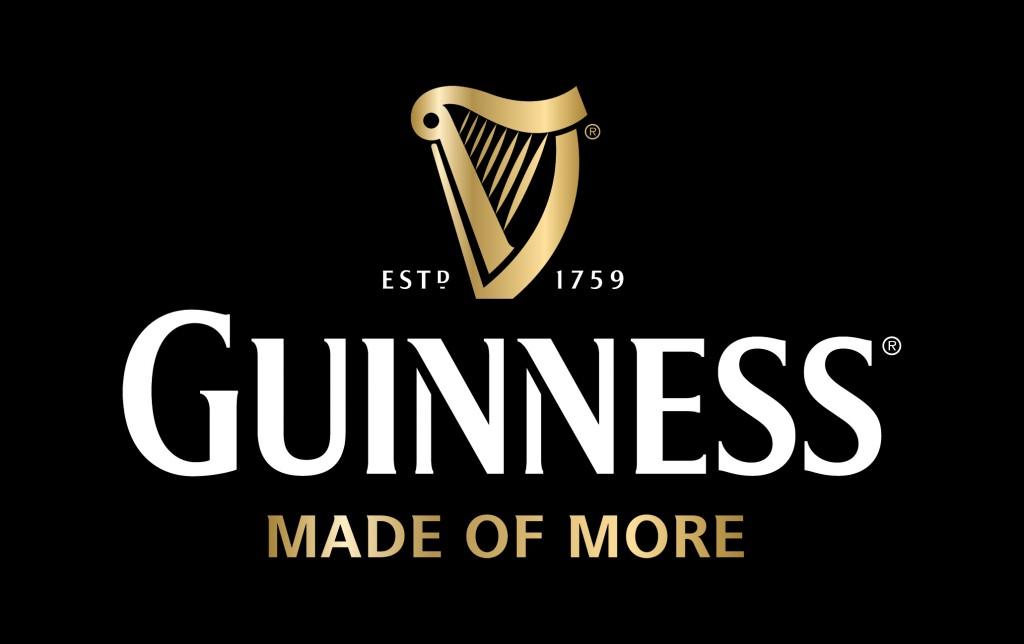 Guinness_Logo & Harp_white & gold