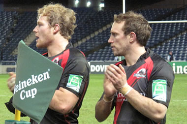 Ross Rennie Mike Blair - © Scottish Rugby Blog