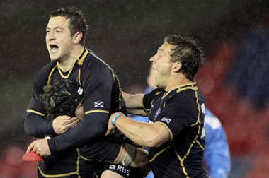 Scotland win rain - pic courtesy SRU