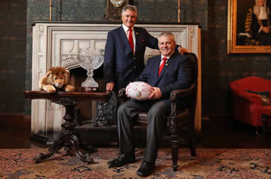Warren Gatland & Andy Irvine - pic courtesy InPhoto/Lions Rugby