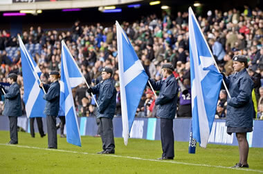 Scotland crowd and flags - © Alastair Ross