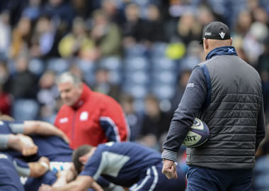Scotland coaching staff - pic © Al Ross