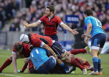 Scotland v Italy, a mess at the breakdown? - pic © Al Ross