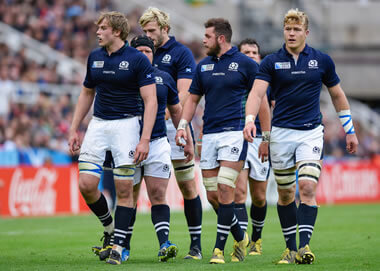 The Scotland pack march on - pic © Al Ross