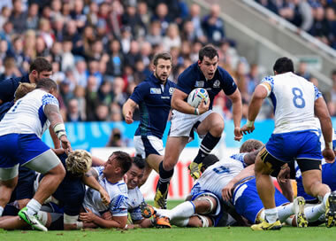 John Hardie on another fearless charge for Scotland - pic © Al Ross