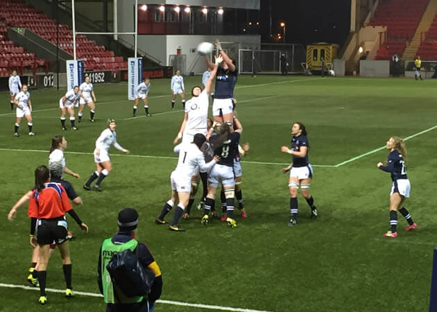 Scotland take the lineout - pic © Iona St Joseph