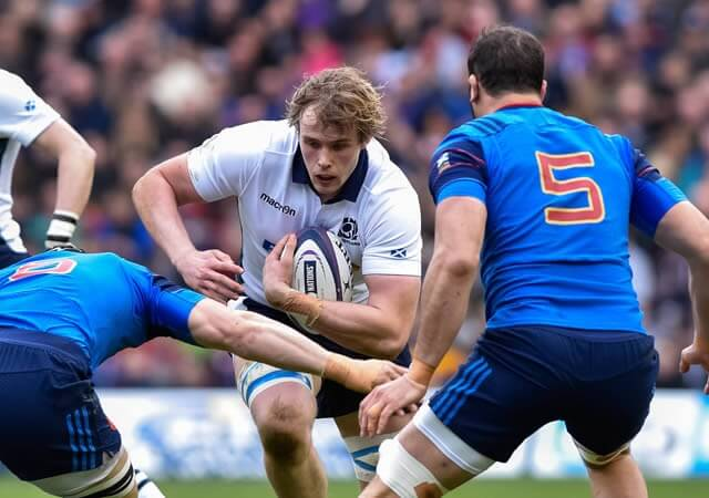 Jonny Gray faces France - pic © Al Ross/Novantae Photography