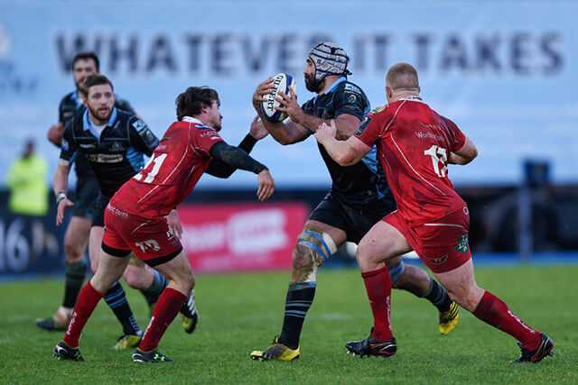 Glasgow vs Scarlets - pic © Al Ross/Novantae Photography