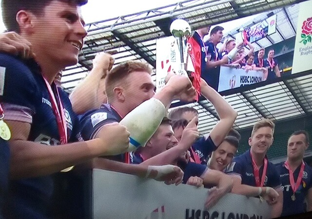Scotland Sevens celebrate