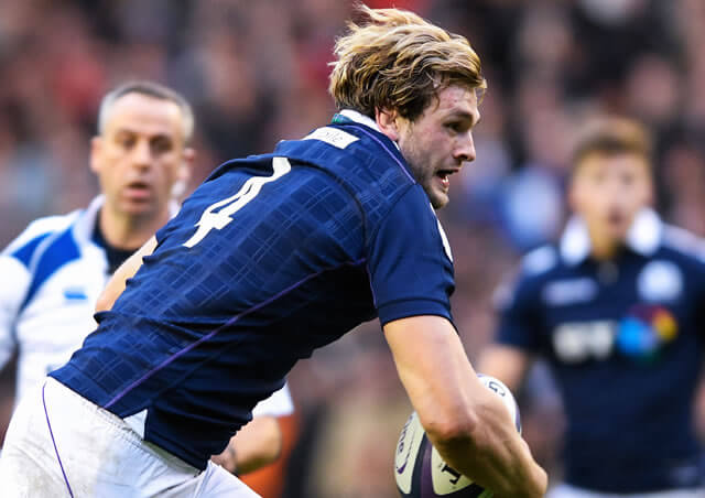 Richie Gray on the charge for Scotland - pic © Al Ross/Novantae Photography