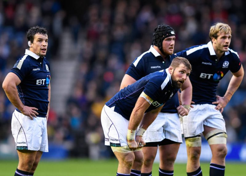 ohn Hardie, John Barclay, Zander Fagerson and Richie Gray pictured during Scotland vs Australia