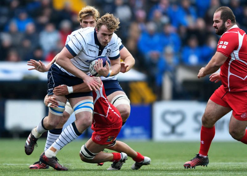 Jonny Gray on the charge - pic © Alastair Ross / Novantae Photography