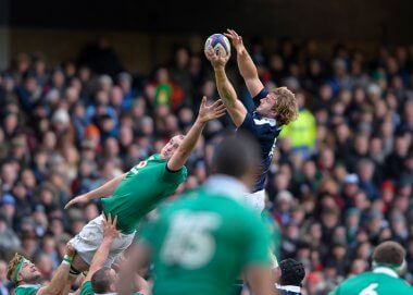 Richie Gray at the lineout
