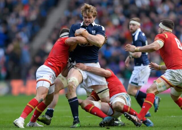 Richie Gray is tackled