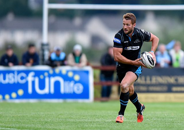 Fraser Lyle playing for Glasgow against Canada A, 2016 - pic © Al Ross/Novantae Photography