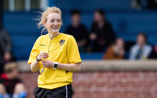 Referee Hollie Davidson