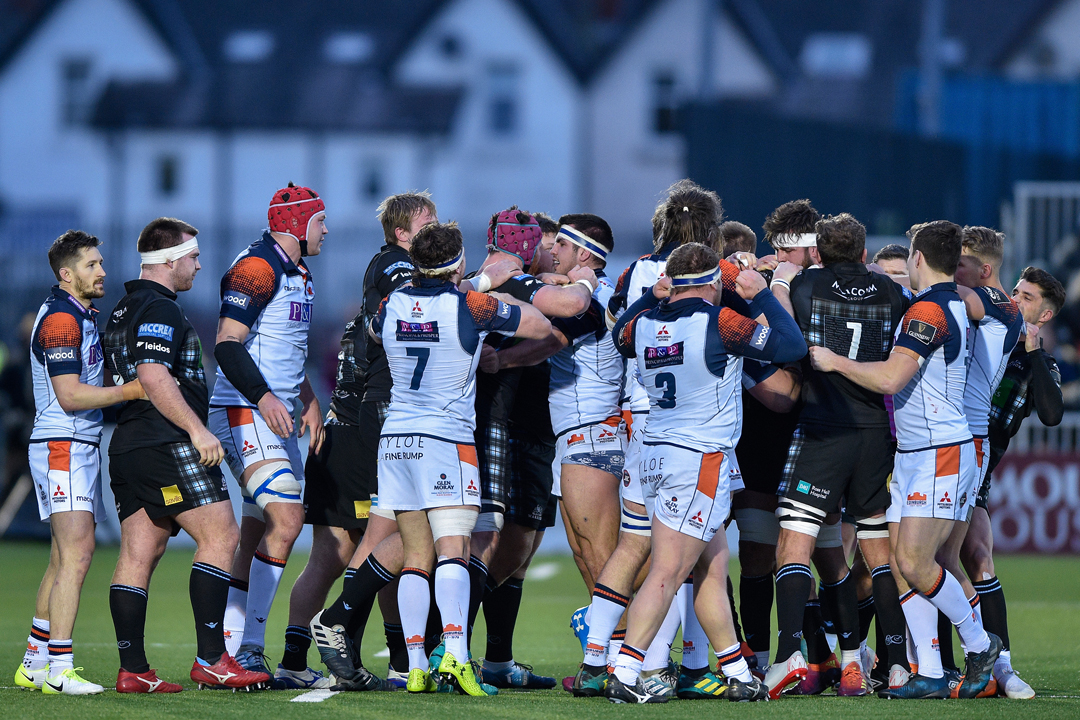 Glasgow v Edinburgh fight