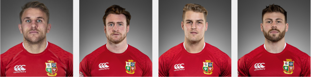 Headshots of the Scottish backs in the Lions' squad