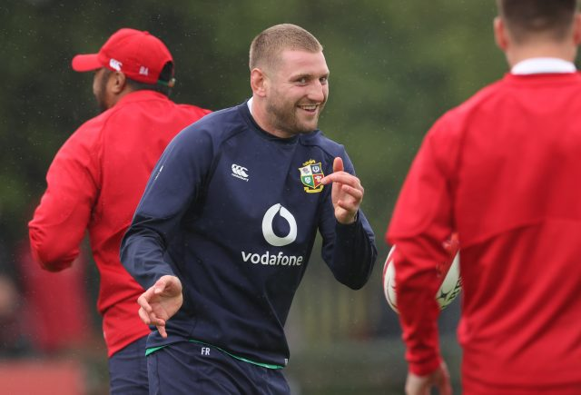 Finn Russell training with the Lions
